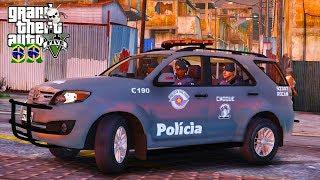 GTA V VIDA POLICIAL | BATALHÃO DE CHOQUE NA FAVELA. EP 254