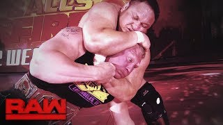 Relive the brutal history between Brock Lesnar and Samoa Joe: Raw, July 3, 2017
