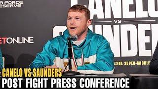 CANELO ALVAREZ VS BILLY JOE SAUNDERS - FULL POST FIGHT PRESS CONFERENCE