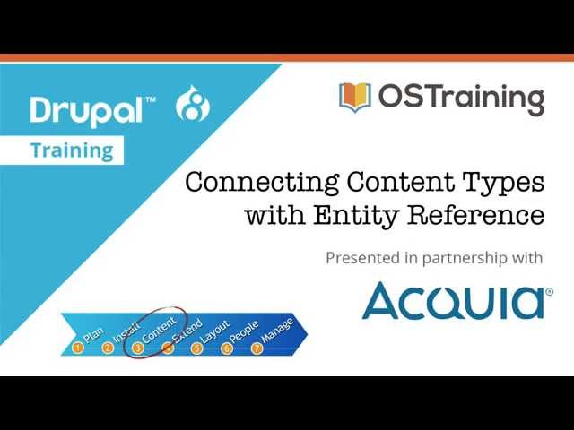 Drupal 8 Beginner, Lesson 26: Connecting Content Types with Entity Reference