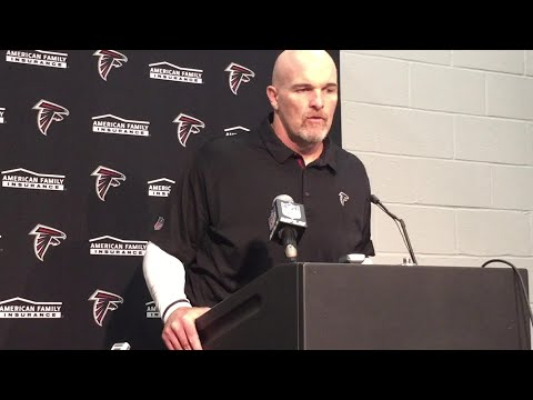 Falcons coach Dan Quinn after loss to Panthers