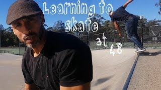 Learning to skate at 48 Ep4 - now 49, How to 50-50 axle stall