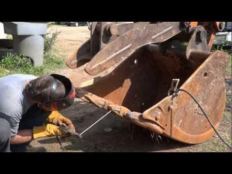 Welding Project - Excavator Bucket, Teeth, and Thumb Repairs (HD)