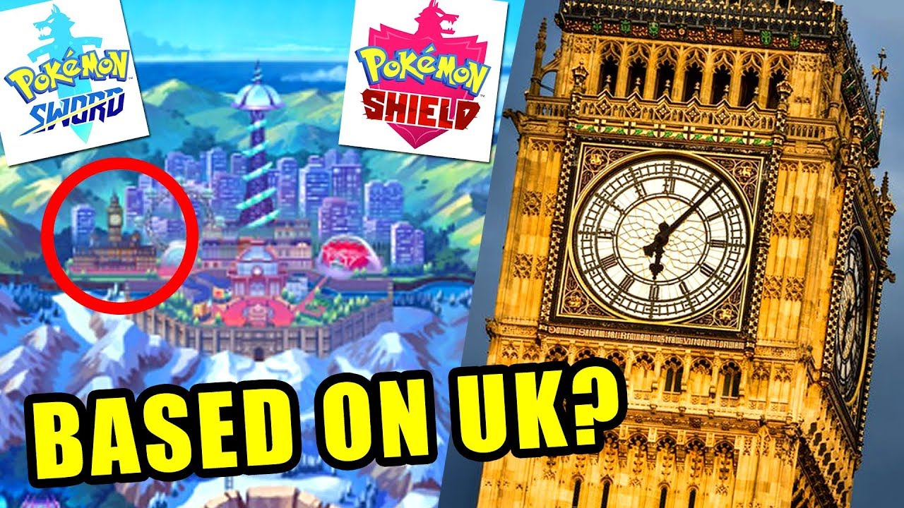 Galar Region Based On The Uk New Pokemon Sword And Pokemon Shield