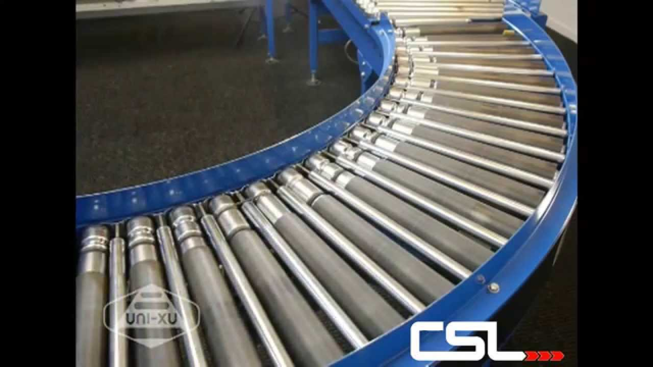 Lineshaft Bend Roller Conveyor Conveyor Systems Ltd