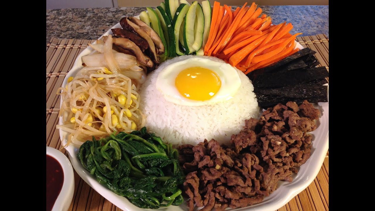 How to cook bibimbap rice vegetables korean food recipes youtube forumfinder