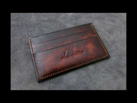 Making Of Leather Card Holder - MK Leathers