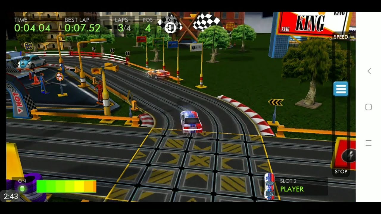 HTR+ Slot Car Simulation (by QUByte Interactive) - racing game for android  and iOS - gameplay