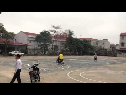 Phần thi thực hành bằng lái xe máy hạng A1 ở tại Hà Nội