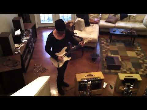 Eric Zapata rhythm guitarist for Gary Clark Jr. tests out a high powered Grammatico DFW tweed twin