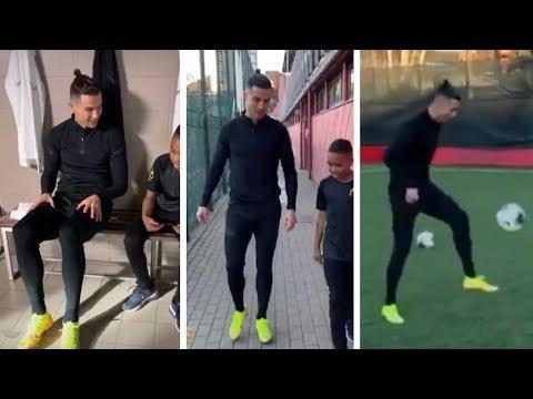 Cristiano Ronaldo and Tekkerz Kid play with the NIKE Mercurial Dream Speed 2