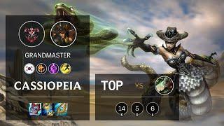 Cassiopeia Top vs Riven - KR Grandmaster Patch 11.10