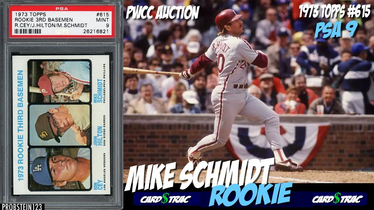 1973 Mike Schmidt Topps Rookie Card 615 For Sale Graded Psa 9