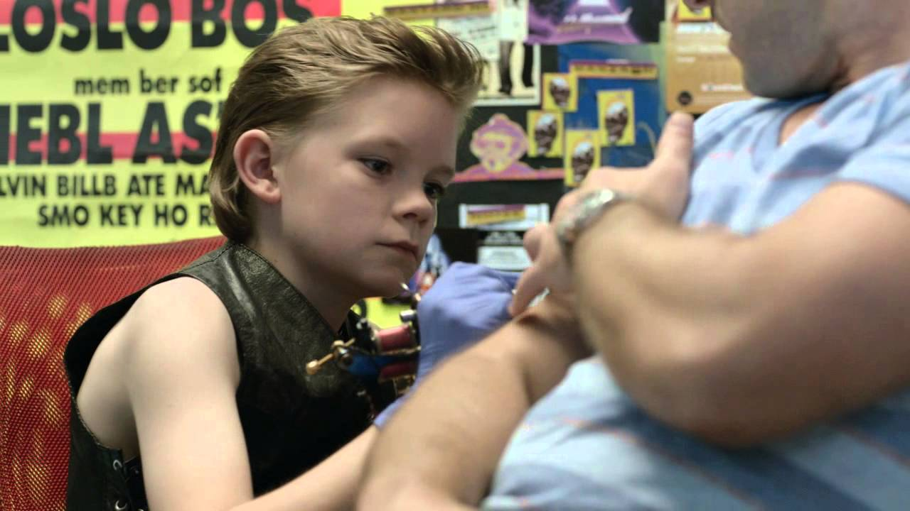 little kid gives guy tattoo youtube