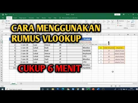Cara Menggunakan Rumus Vlookup Pada Ms Excel Youtube