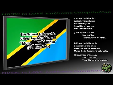 "Tanzania National Anthem ""Mungu ibariki Afrika"" INSTRUMENTAL with lyrics"