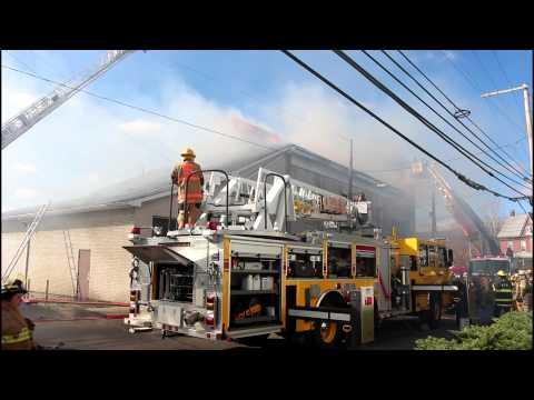 4 ALARM FIRE AT DIAMOND FIRE CO SOCIAL HALL WALNUTPORT, PA 11.2.14