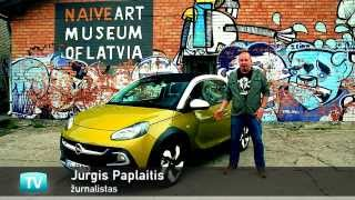 OPEL ADAM ROCKS review (English subtitles): test drive in Riga (02 09 2014)