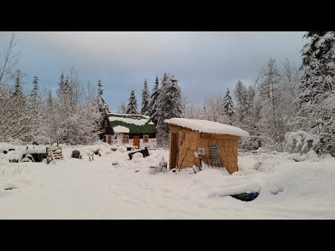 Some REAL Vermont Snow! | Homestead Life At The Off Grid Cabin