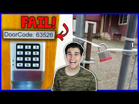 People Who Think They Have The Best Security! (Hilarious Fails)