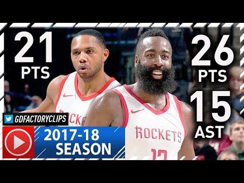 James Harden & Eric Gordon Full Highlights vs Pacers (2017.11.12) - 47 Pts, TOO EASY!