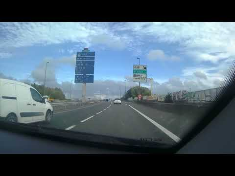 Dash Cam Driving From Cite Europe Centre To Port Of Calais, France
