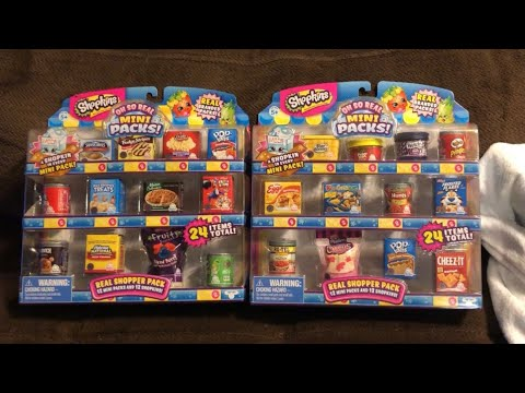 Shopkins OH-SO-REAL!!!! Opening Both packs!!!