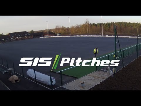 West Riding County FA - synthetic pitch construction & installation time-lapse