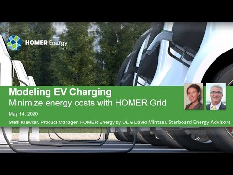 Electric Vehicle Charging In HOMER Grid