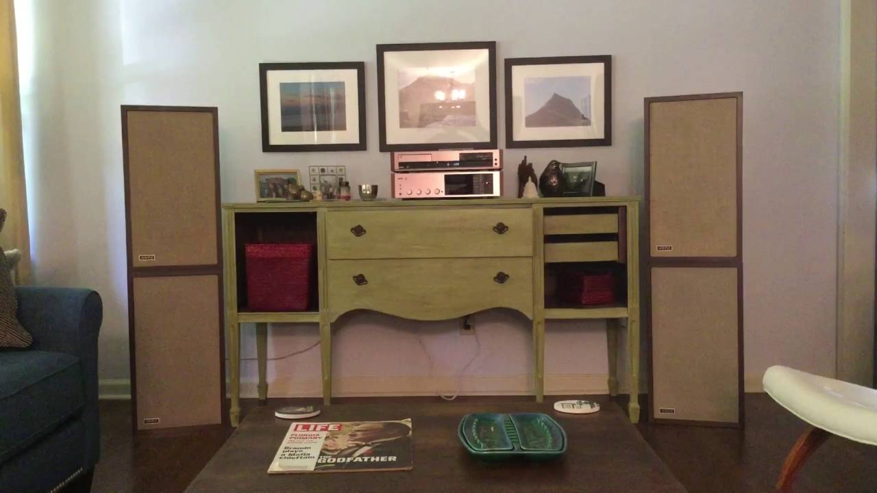 double stacked original large advent speaker array youtube. Black Bedroom Furniture Sets. Home Design Ideas