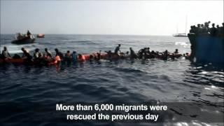 سياسة  بالفيديو.. مصرع 32 مهاجراً غير شرعي قبالة سواحل ليبيا