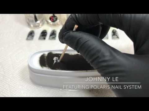 How to Create Easy Marble Design With Polaris Nails Dipping
