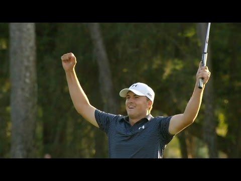 Jordan Spieth's walk-off birdie putt to win the Valspar Championship