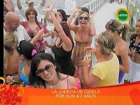 La juerga de Gisela Valcárcel por su 47 años (Amor Amor Amor 29-01-10)