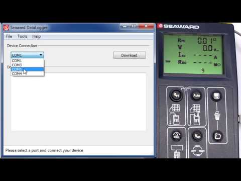 How do I download the PV150 to the DataLogger