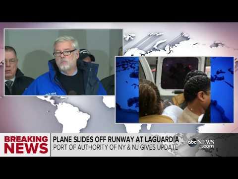 Delta Jet Skids Off Runway at LaGuardia Airport