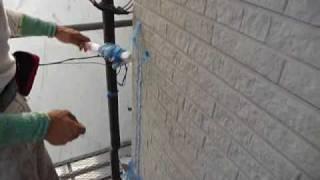 シーリング後のテープ除去:外壁塗装【曽根塗装店】横浜市 thumbnail