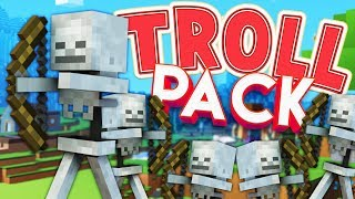 100 SKELETON PRANK - MODDED MINECRAFT TROLL PACK #4