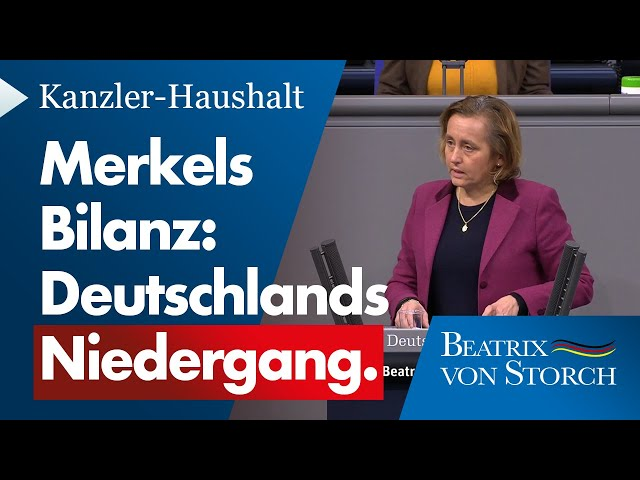 Beatrix von Storch (AfD) - Merkels Bilanz: Deutschlands Niedergang - 09.12.2020