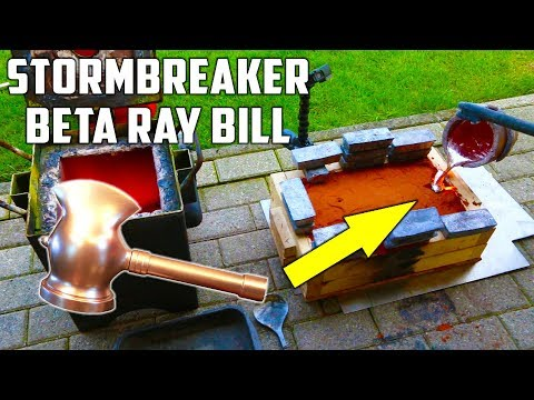 Casting Stormbreaker Hammer in Aluminium from Beta Ray Bill ( Marvel Comics)