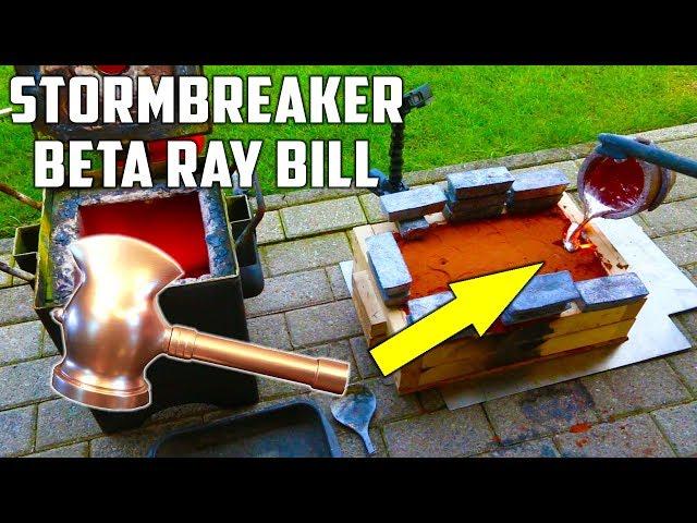 Casting Stormbreaker Hammer in Aluminium from Beta Ray Bill ( Marvel Comics)