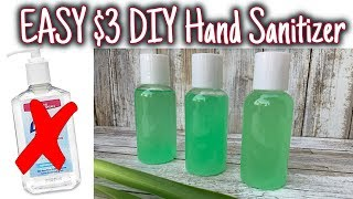 How to make a quick and easy diy sanitiazer for $3. this is such an hand sanitizer everything you need it very accessible! i know tha...