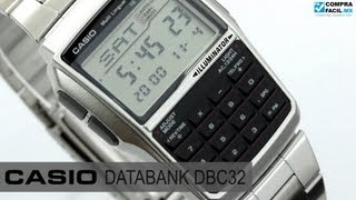 Reloj Casio Retro Vintage DBC32 Metal - www.CompraFacil.mx
