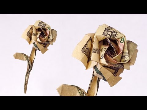 How To Make A Rose From A 100 Dollar Bill.