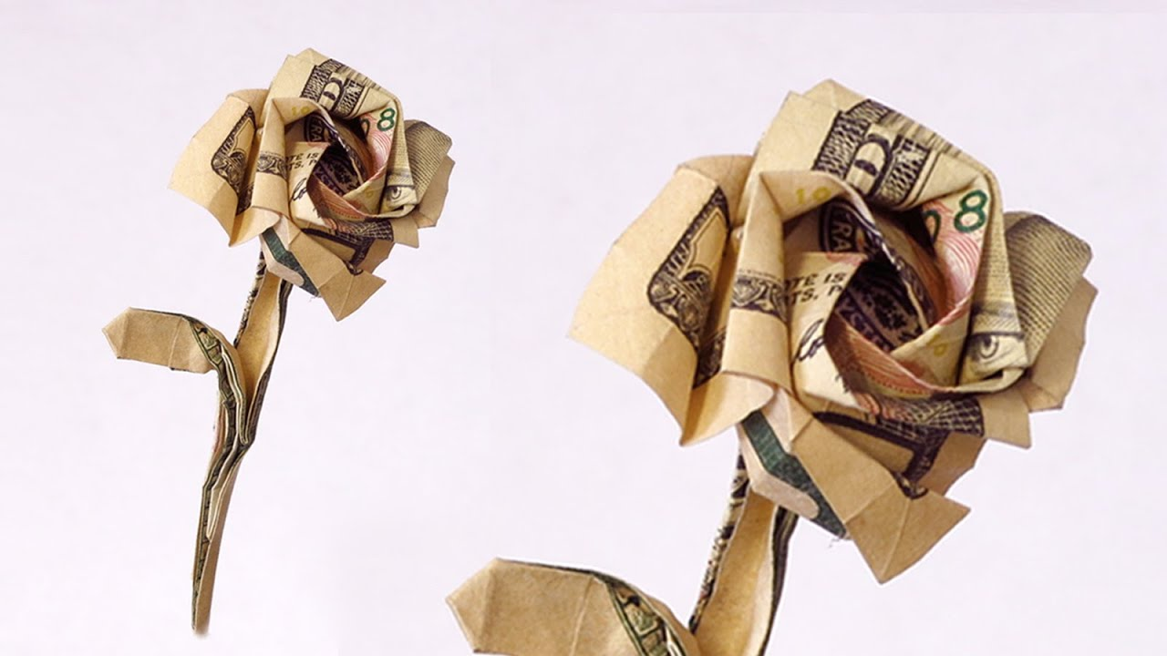 How to make a rose from a 100 dollar bill youtube mightylinksfo