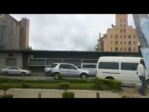 Driving Through Down Town Lusaka, Zambia