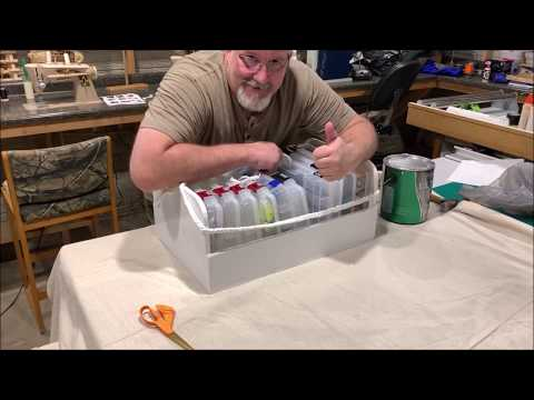 Home made tackle box organizer how to video