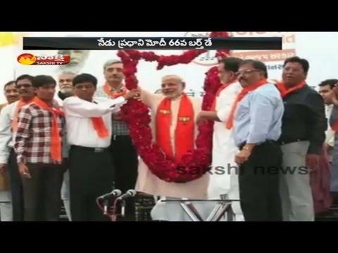 PM Narendra Modi Celebrates 66th Birthday In Gujarat