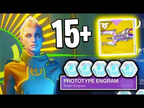 Destiny 2 - OPENING 15+ PROTOTYPE ENGRAMS! (Destiny 2 EVERVERSE ENGRAM OPENING)