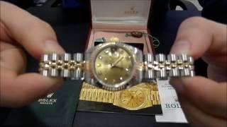 Rolex Datejust Lady Steel & Gold Diamond dial | WatchesGMT